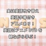 実は英語吹き替え・英語字幕付きアニメあり!英語はアニメDVDを観ながら学ぶ!