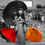 Japanese Kimono is beautiful. Kiryu city is a traditional town of textile in Gunma.